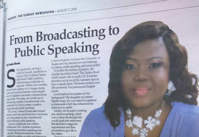 From Broadcasting to Public Speaking (Thisday Interview)
